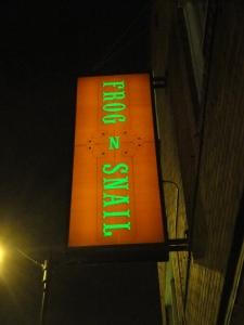 Frog n Snail sign