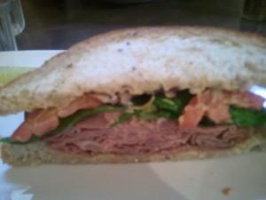 half roast beef sandwich