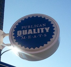 Publican Quality Meats sign