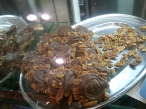 milk chocolate turtles with pecans