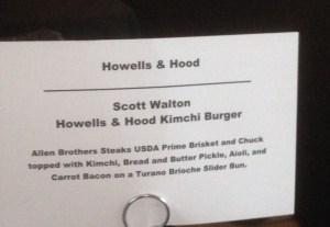 Howells Menu