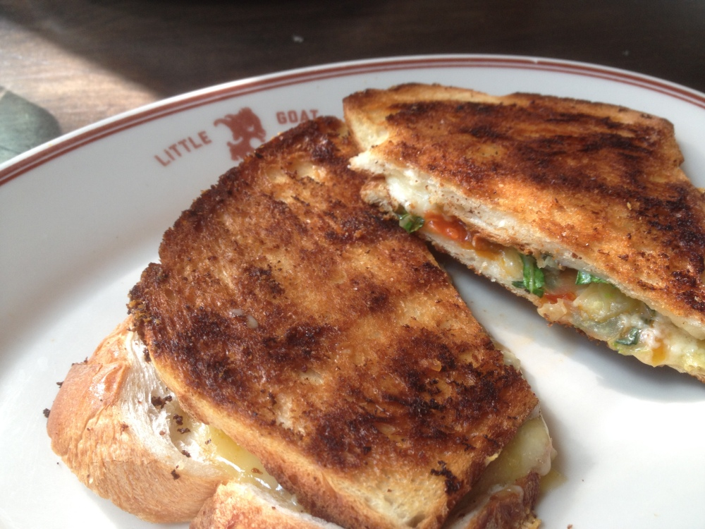 Grilled Cheese at Little Goat Diner