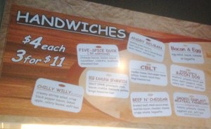 Handwiches Sign