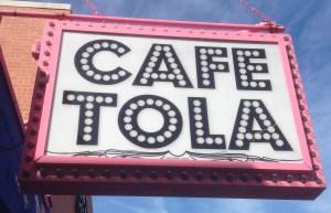 Cafe Tola sign