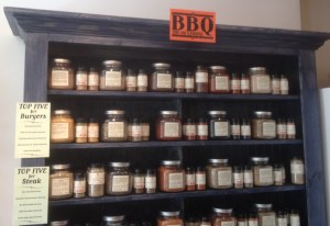 BBQ section at Savory Spice