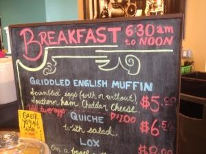 Breakfast Sandwich Options