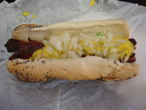Char Dog at Downtown Dogs