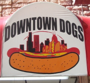 DownTown Dogs sign