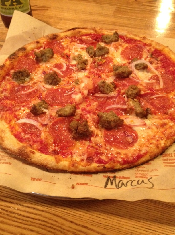 Meat Feast at Blaze Pizza