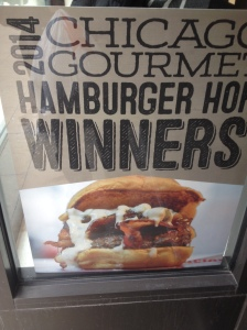 Winner of Gourmet Hamburger Hop 2014