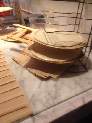 Freshly made dough base at Blaze Pizza
