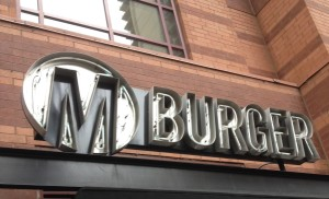 M Burger Sign in Chicago