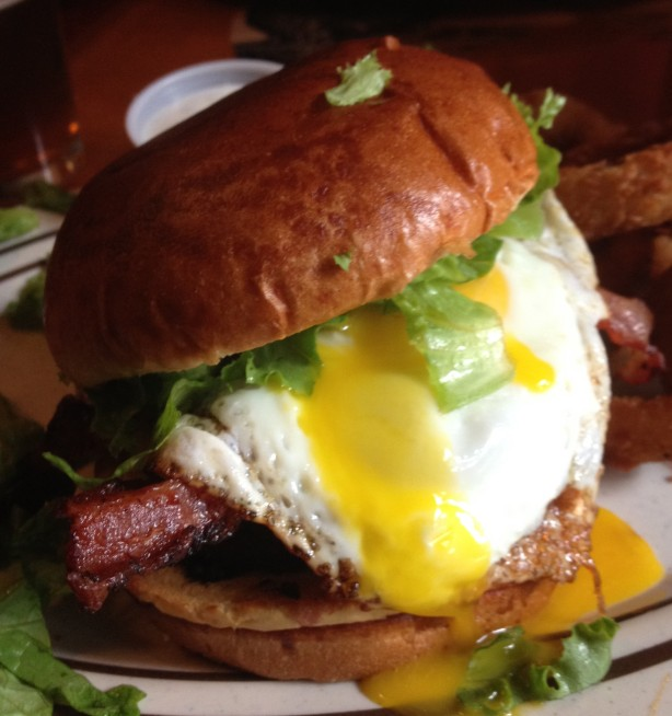 The Egg Burger at Monks